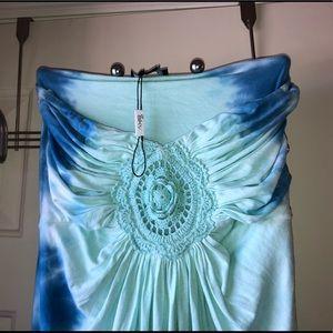 Sky strapless maxi dress.